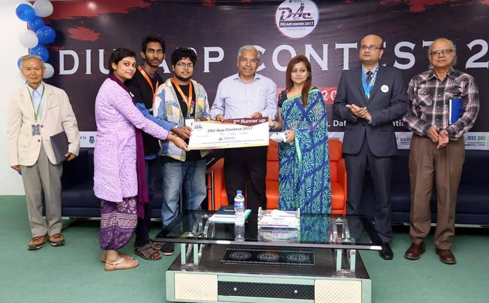 DIU App Contest 2nd runner-up 2017