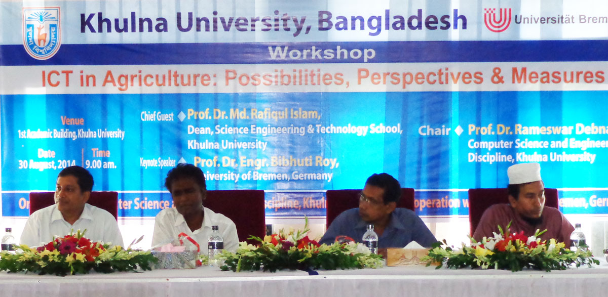 Workshop on ICT in agriculture at Khulna University